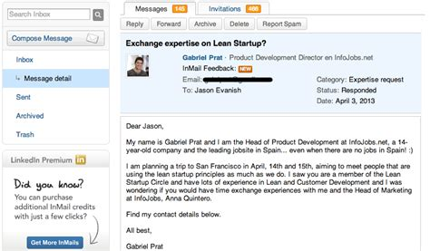 inmail template lean 171 building customer driven saas products jason evanish