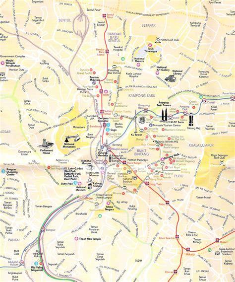 kuala lumpur map tourist attractions kuala lumpur tourist map kuala lumpur city malaysia