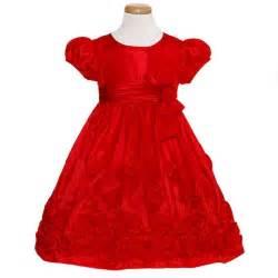 bonnie jean red taffeta bow christmas dress baby toddler