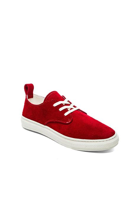 lyst buddy corgi  suede sneakers  red  men