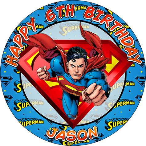 Cupcake Topper Superman 5 superman sweet tops personalised 100 edible cake and cupcake toppers