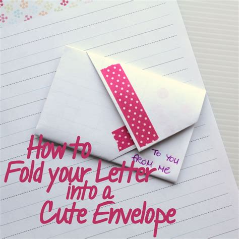 Folding Paper Into An Envelope - how to fold an envelope the crafty mummy