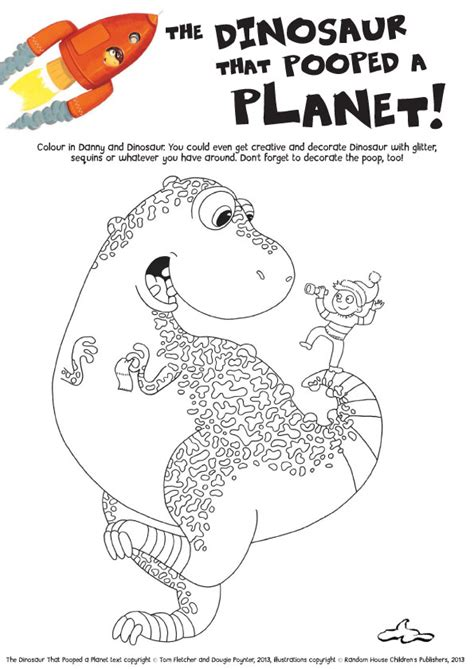 coloring book wrong the dinosaur that pooped a planet colouring scholastic