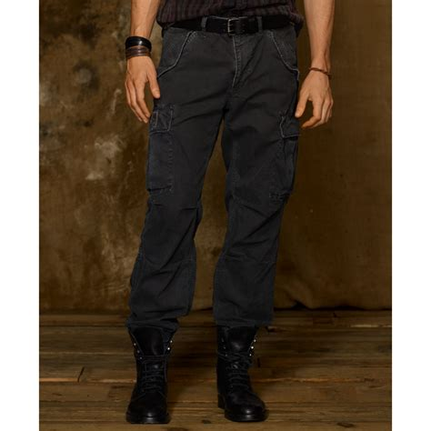 Cargo Pant Black 1 denim supply ralph field cargo in black for lyst