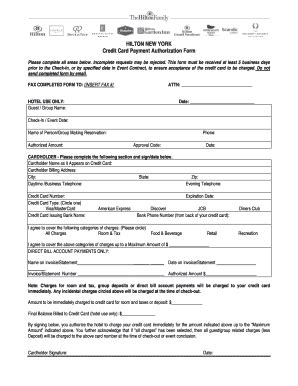 Credit Application Form In Hotel Hotel Application Pdf Fill Printable