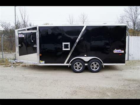 Amera Lite ADXST Enclosed Inline Snowmobile Trailer   YouTube