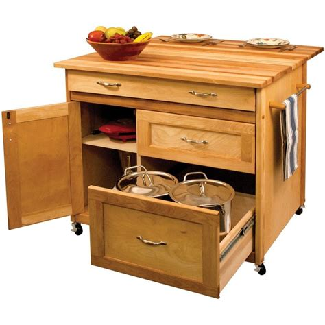 40 quot catskill craftsmen portable kitchen island cart 15218