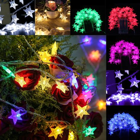christmas lights outdoor  led string lights garden
