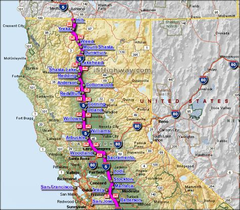 map of interstate 5 through oregon i 5 interstate 5 california