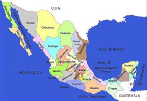 Map Of States Of Mexico by Map Of Mexico States Regional Map Of Mexico Regional