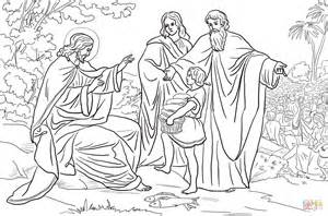 coloring pages for jesus feeding the 5000 jesus feeds 5000 coloring page coloring home