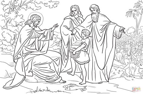 printable coloring pages jesus feeds 5000 jesus feeds 5000 free coloring page az coloring pages