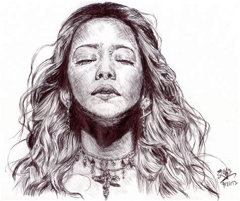 Sketches In Pen by Speed Drawing Pen Sketch Of Namie Amuro By Chaseroflight