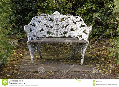 ornate bench ornate park bench stock image image of alone bench