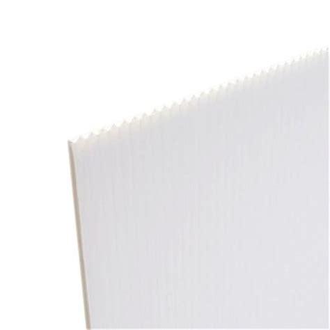 corrugated plastic home depot 48 in x 96 in x 157 in white corrugated plastic