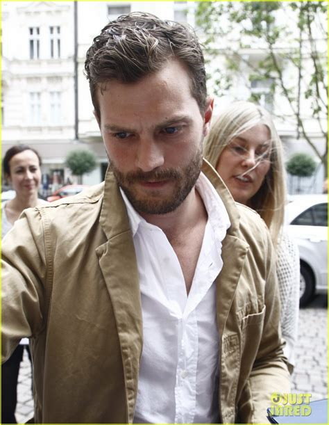 jamie dornan voice over jamie dornan shows some scruff at anthropoid photo call