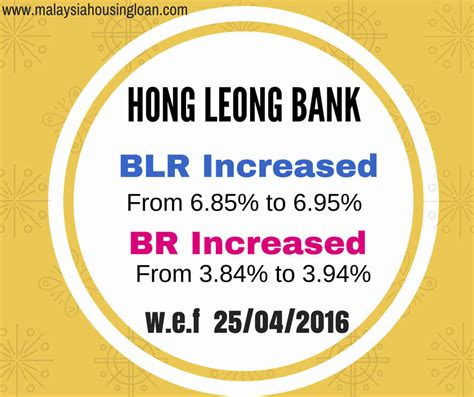 hong leong bank housing loan calculator hong leong bank blr br increased malaysia housing loan