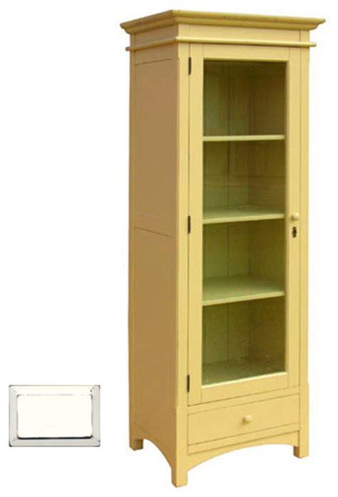 narrow cottage display cupboard white farmhouse