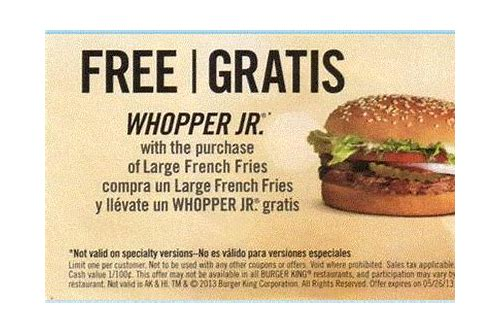 burger king free whopper coupon code