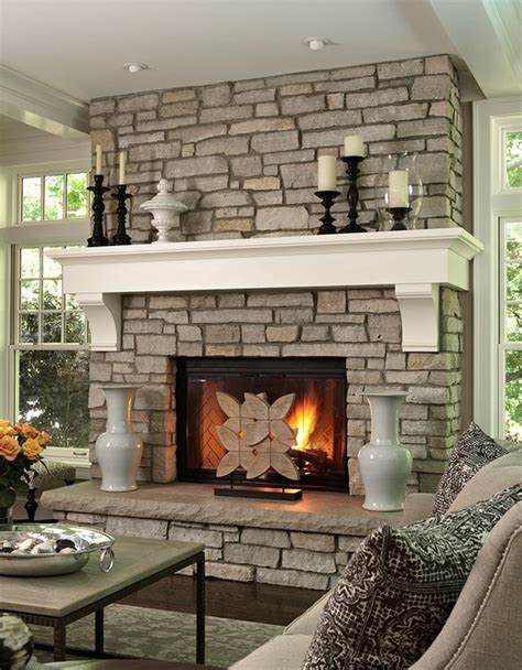 brick fireplace with wooden mantle fireplace ideas