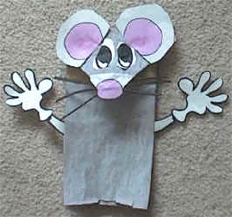 paper bag mouse puppet pattern paper bag mouse puppet