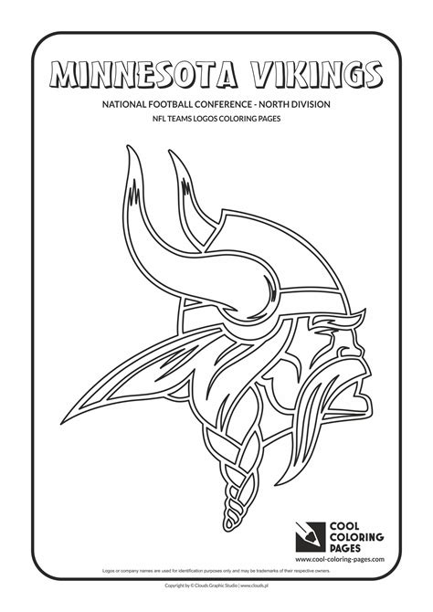 nfl vikings coloring pages cool coloring pages nfl teams logos coloring pages cool