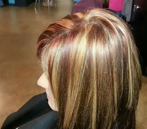 blonde hair with copper lowlights copper lowlights blonde highlights hair pinterest