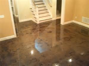 stained concrete in basement stain concrete basement