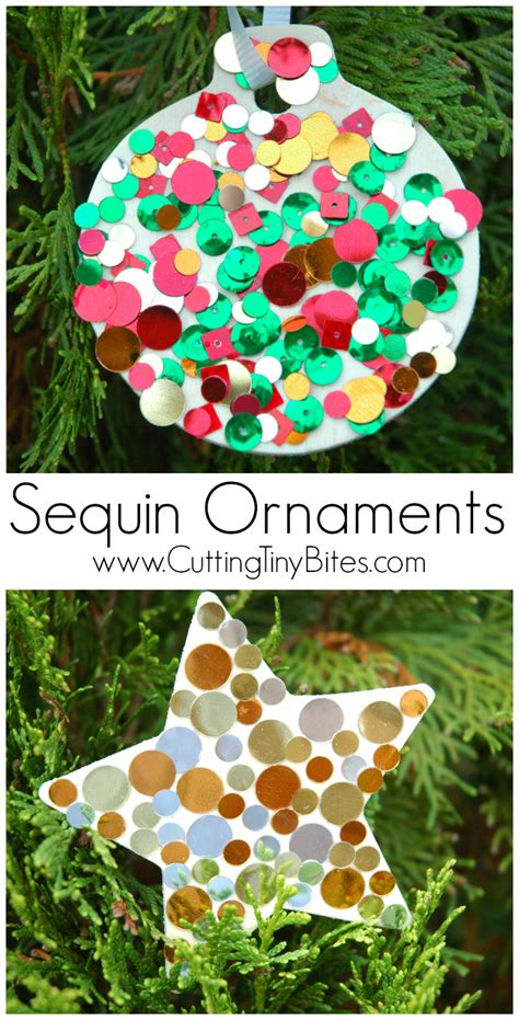 christmas decoration for kindergarden sequin ornaments what can we do with paper and glue