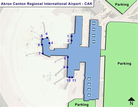 Directions To Airport Cak Akron Canton Regional Airport Terminal Maps
