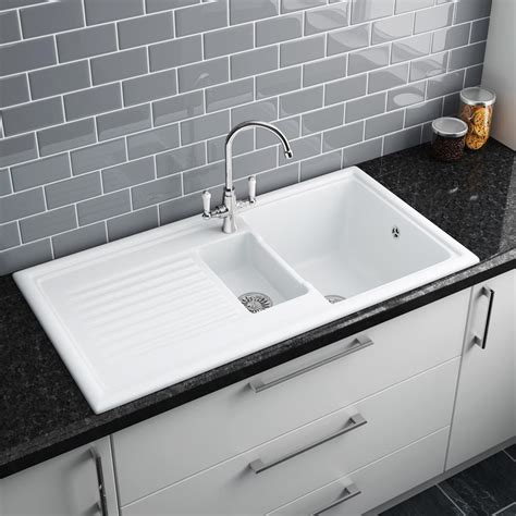b q kitchen sink ceramic kitchen sinks b q reversadermcream com