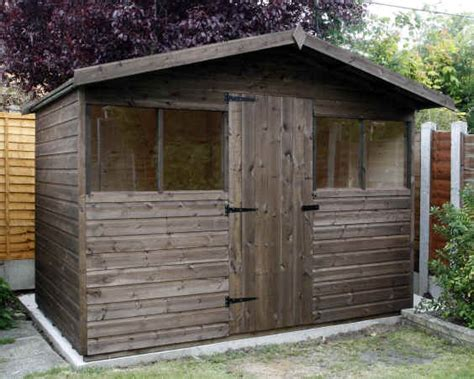 Sheds 10 X 6 chalet garden shed 10 x 6 with extended roof by sheds unlimited