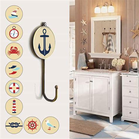 boat bathroom accessories nautical sea boat themed bathroom coat wall hooks by