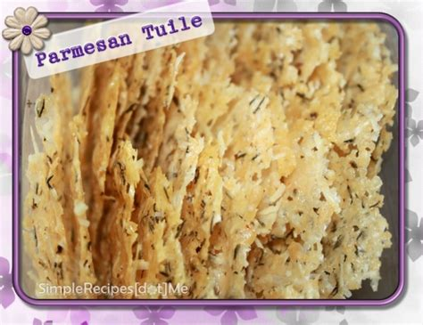 Simple Tuile Recipe by Parmesan Tuiles Color Your Recipes