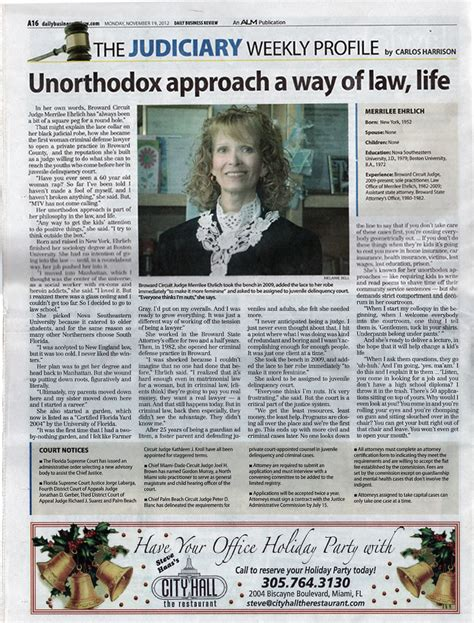 Broward County Circuit Court Records Daily Business Review Nov 2012