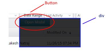 div position right javascript position a div to bottom right of button in