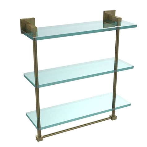 3 tier glass shelf bathroom allied brass montero 16 in l x 18 in h x 6 1 4 in w 3