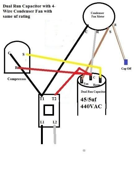 condenser fan wiring diagram wiring diagram and