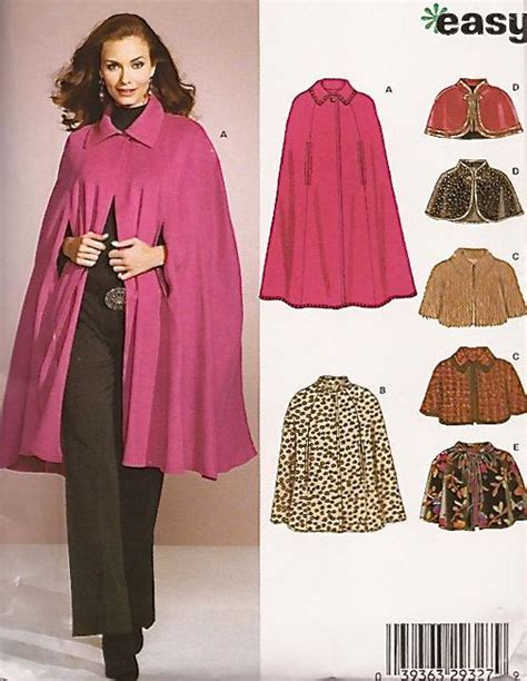sewing pattern cape easy plus size capes capelet sewing pattern