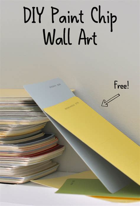 how to get a paint chip the wall diy paint chip wall greenthumbwhiteapron