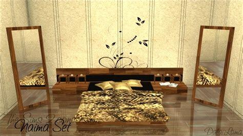 Naima Set naima set bed endtable mirror by dalailama at the sims lover 187 sims 4 updates