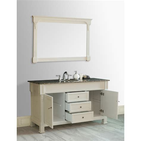 Galaxy 60 Inch Single Sink Vanity Cream Finish Baltic 60 Inch Single Sink Bathroom Vanity