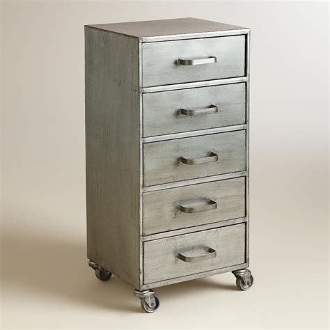 Rolling Cabinet With Drawers metal 5 drawer jase rolling file cabinet world market