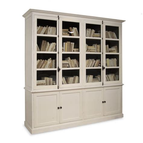Bookcase Cabinet Inga Swedish Four Door Bookcase Cabinet