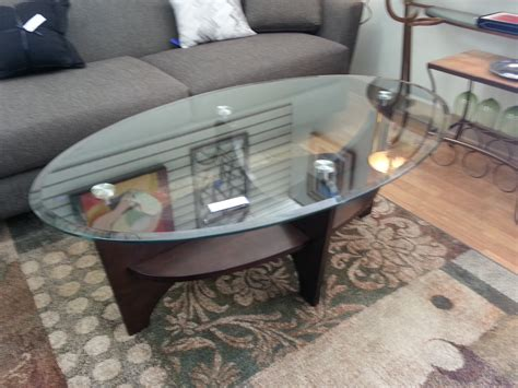oval coffee table with glass top best home design 2018