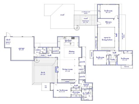 modern 2 story house floor plan simple two story house