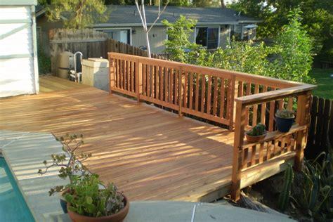 buildsmart patios decks and fences redwood deck