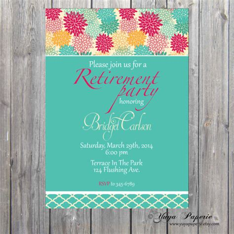 retirement invitations templates template for retirement flyers