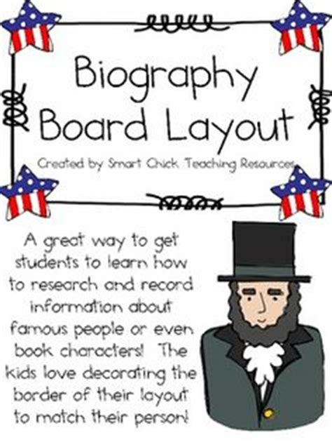 biography board layout biography on pinterest biographies student and famous