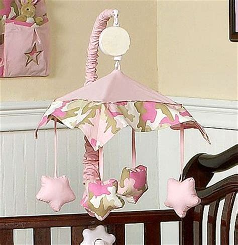 Camo Mobile For Crib by Pink And Khaki Camo Army Camouflage Musical Crib